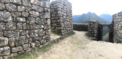 Reconstructed stone walls from an Inca archaeological site