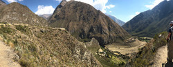 Landscape view of Patallacta archaeological site, Peru
