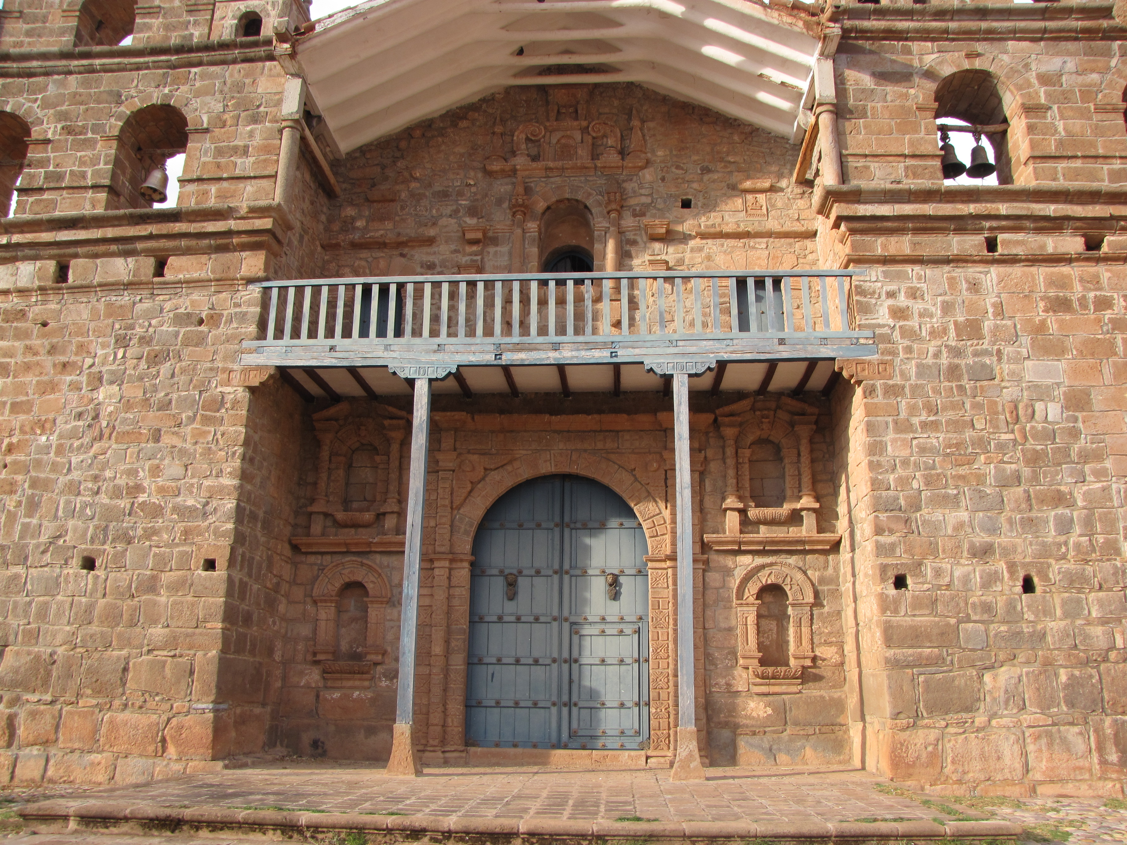 Facade of Tiobamba church in Maras, Cusco