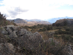 View of Cheqoq hill in Maras, Cusco