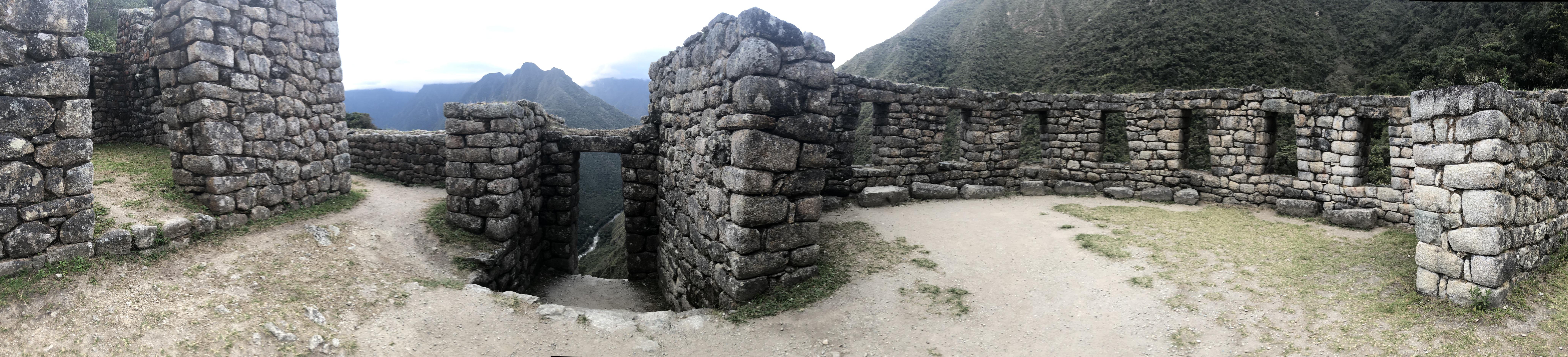 Reconstructed Inca stone walls