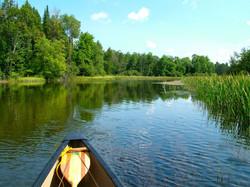 Canoe on Au Sable