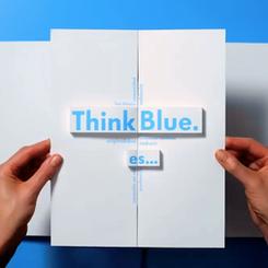3D Volkswagen Think Blue