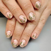Shellac with Nail Art