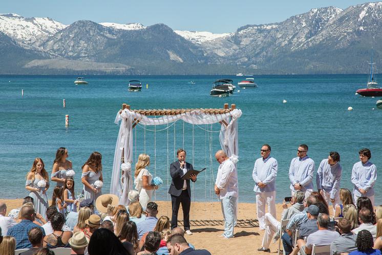 Round Hill Pines Beach wedding