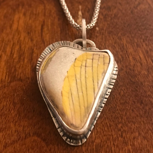 HEARTSHAPED POTTERY NECKLACE