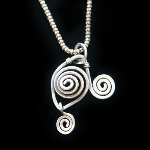 WRAPPED COILED PENDANT