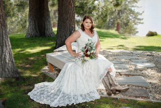 Beautiful bride in boots