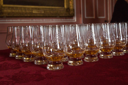 Whiskey tasting at the castle