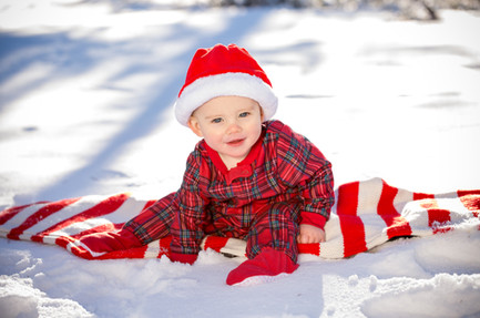 Christmas baby in the snow