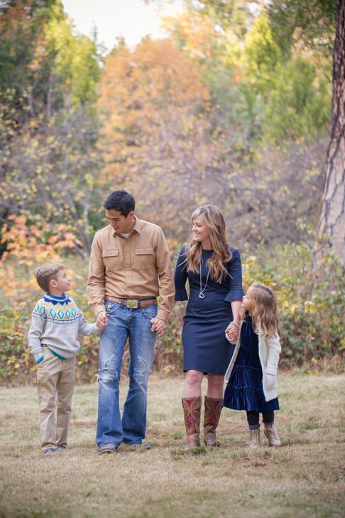 Family portrait in scenic Apple Hill