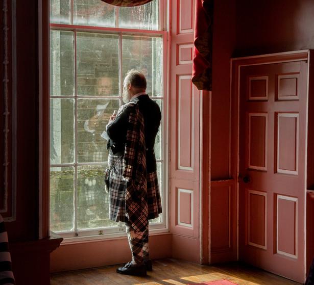 The clansman at Castle Menzies