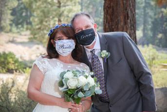 Bride and Groom in masks
