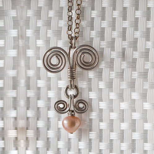 PEARL WRAPPED PENDANT