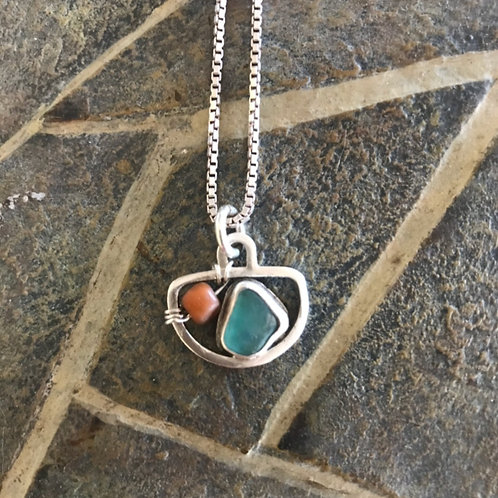 MINI SEAGLASS NECKLACE