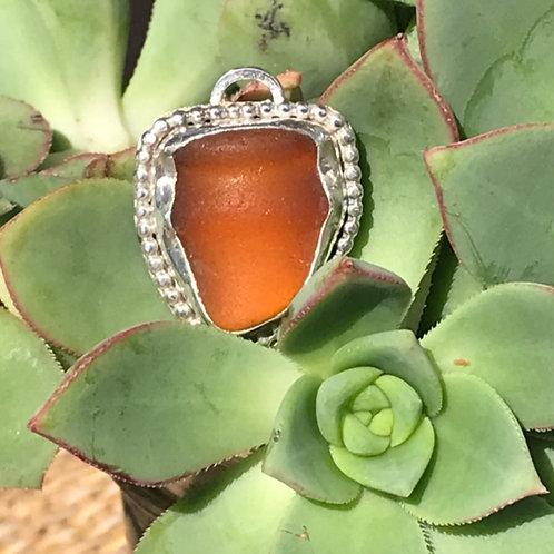SEAGLASS BROWN PENDANT