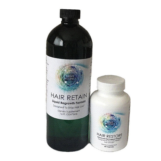 Infinite Biogenics Retain & Restore Hair Growth System