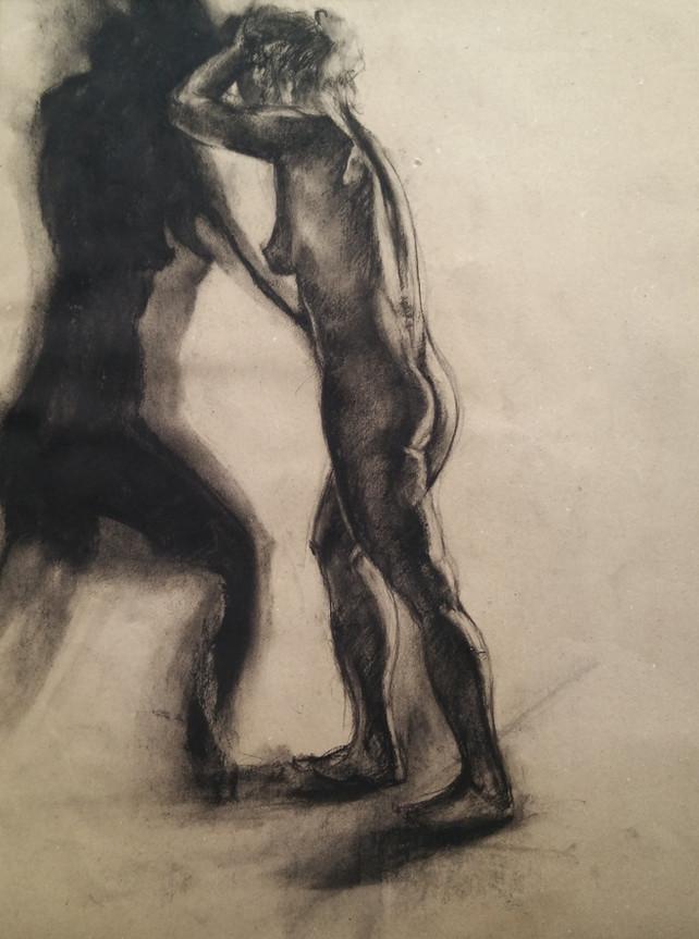 Charcoal nude