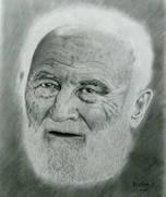 Yaşlı Adam Karakalem Portre