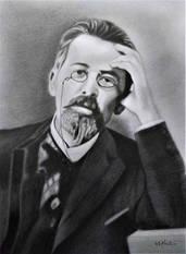 Anton Çehov Karakalem Portre