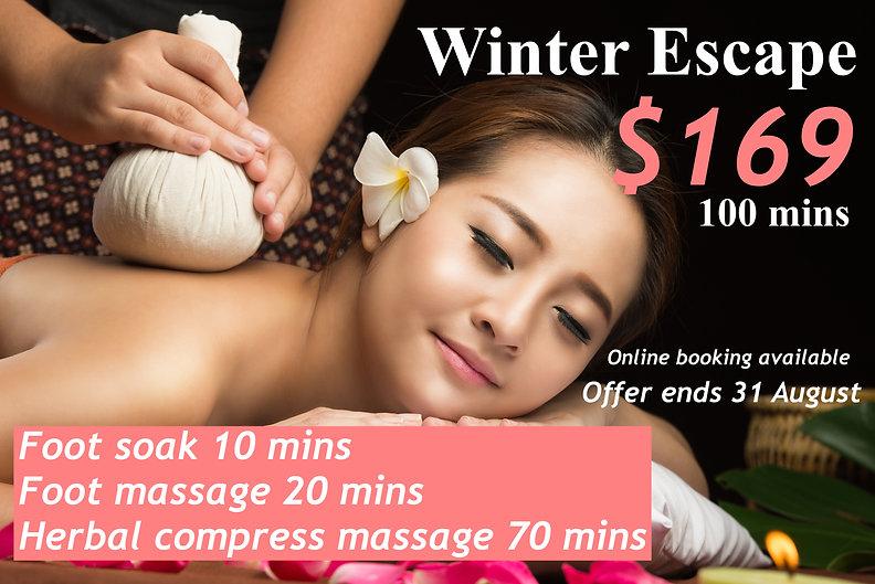 winter special price massage aroma thera