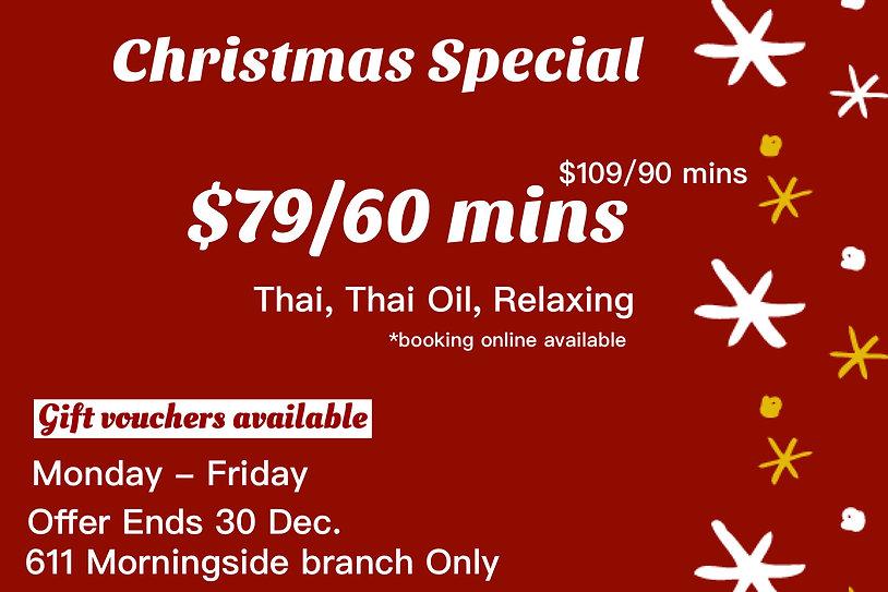 xmas special price massage