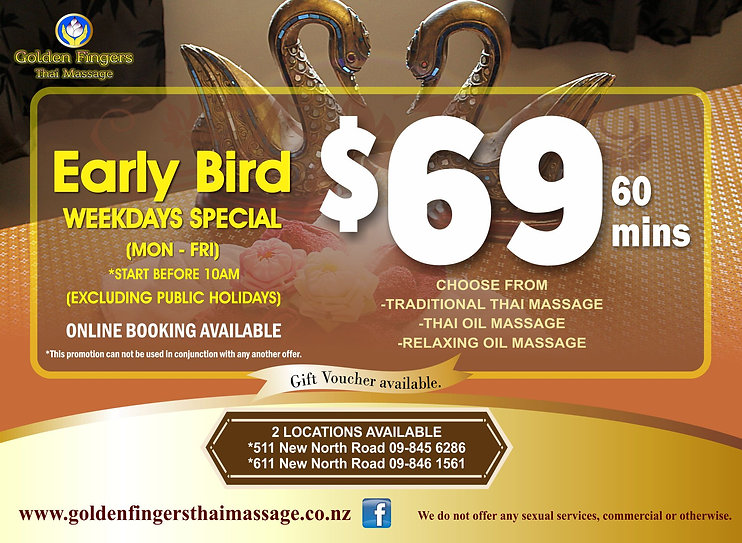 Early morning special price