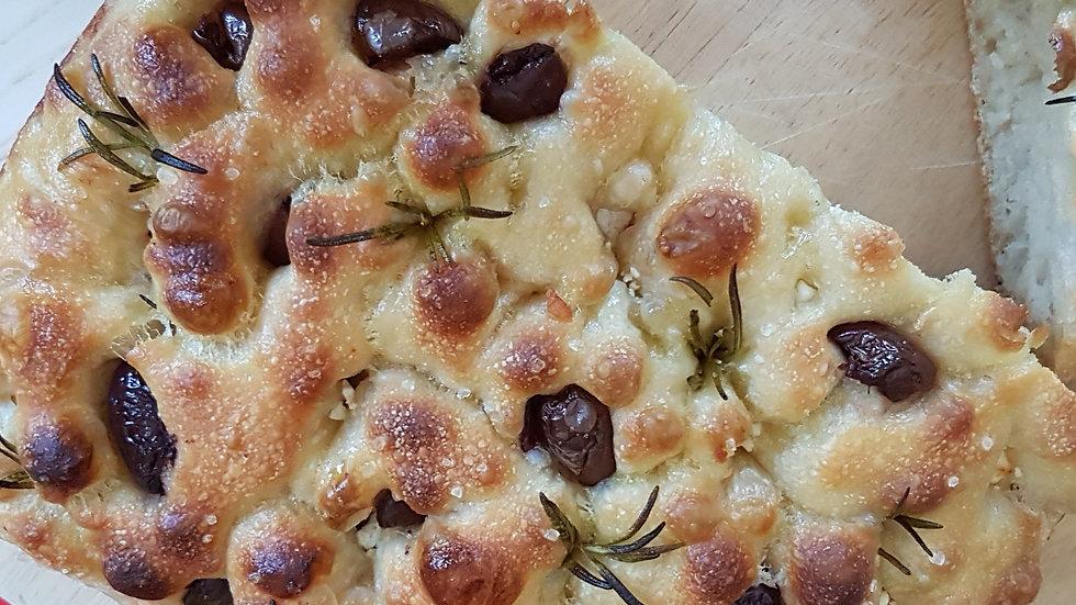 Sourdough Focaccia - Kalamata Olives & Rosemary