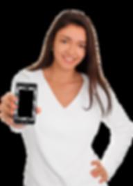 Girl-Holding-Smart-Phone---Beautiful-smi