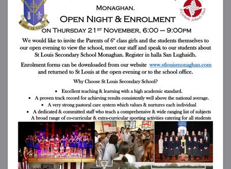 Open Evening Thursday 21st November