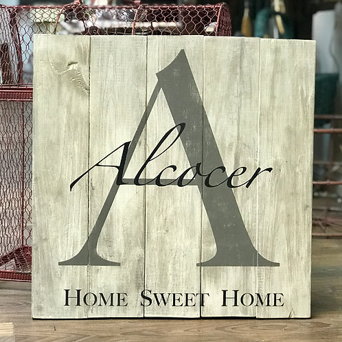 Home Sweet Home Monogram