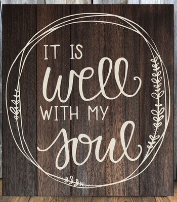 It is well with my soul (#2 w/ circle design)