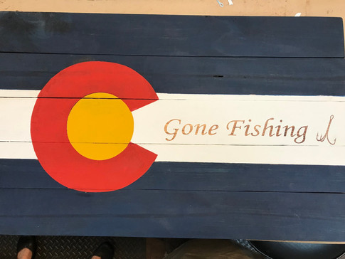 CO Flag Gone Fishing