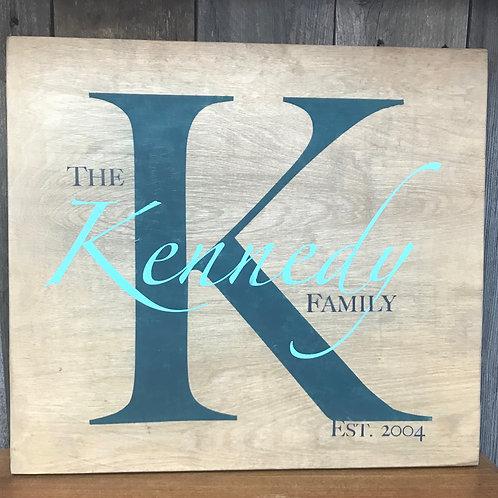 Family Name Monogram