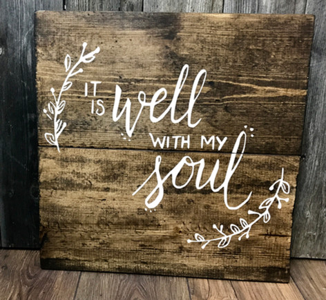 It Is Well with my Soul (#1 w/ twigs)