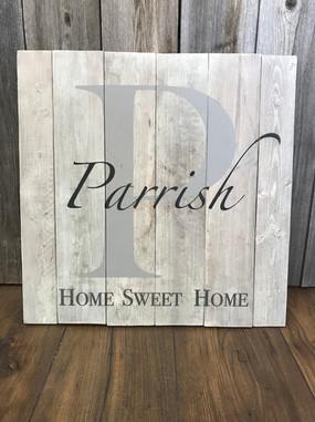 Home Sweet Home Monogram