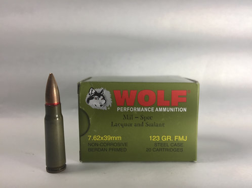 Wolf Performance 7.62x39mm 123GR. FMJ