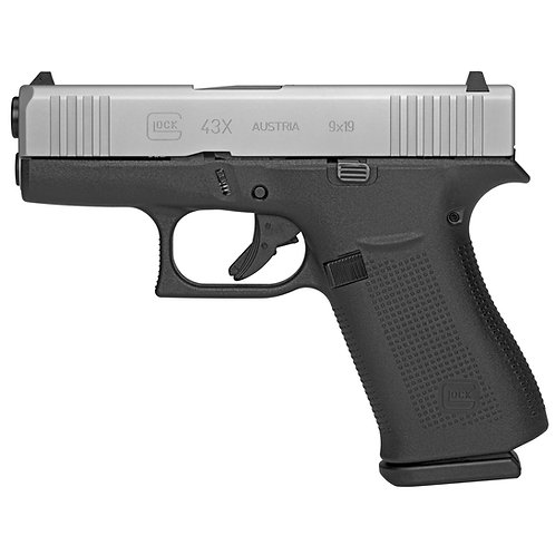Glock 43X 9mm 10RD Silver