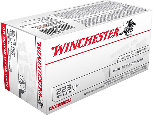 Winchester 223 45GR Jacketed Hollow Point