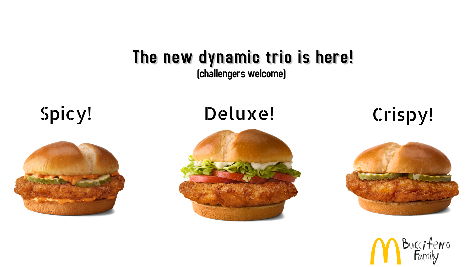 3 Mind blowing new Chicken Sandwiches, try them all!