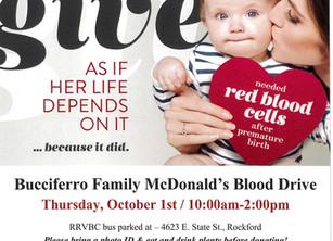 Blood Drive thursday oct 1st!