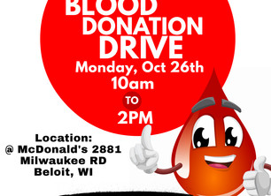 blood drive oct 26th!!