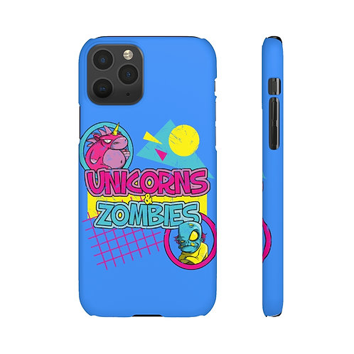 Retro and ready - Unicorns and Zombies Phone case!