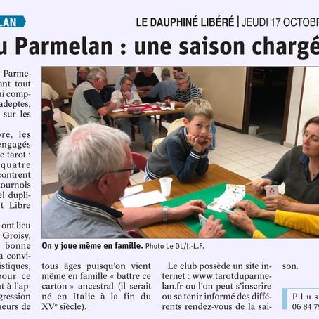 Article du Dauphiné sur le Tarot du Parmelan