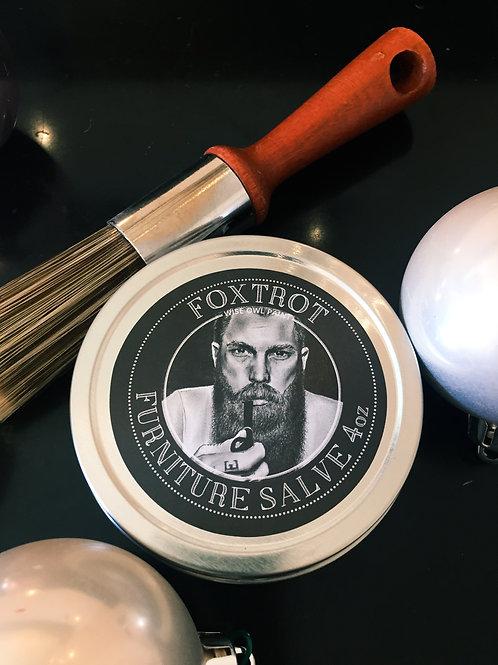 """Foxtrot Salve & 1"""" wax Brush"""