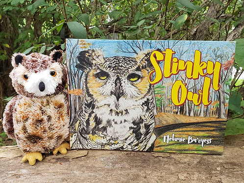 Stinky Owl - Hardcover and Owl Plush Toy Combo