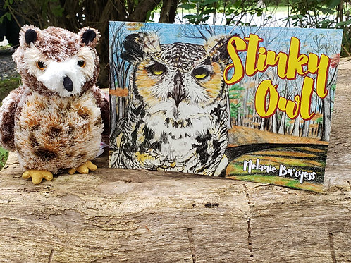Stinky Owl - Paperback and Owl Plush Toy Combo