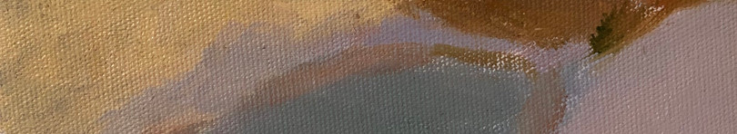 Um lago entre dunas, à tarde, 2020