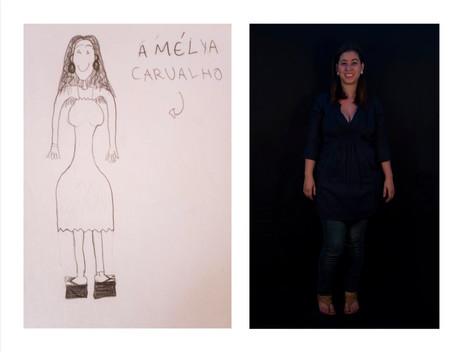 """Série """"Biografias imaginárias"""", 2013 (Fotografia e Desenho)"""