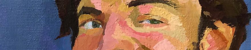 Homem sarcástico (autorretrato sorrindo), 2020